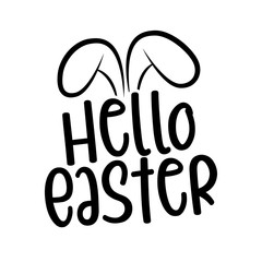 Hello Easter - hand drawn modern calligraphy design vector illustration. Perfect for advertising, poster, announcement or greeting card. Beautiful Letters.