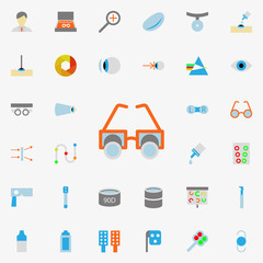 testing glasses illustration icon. optometry icons universal set for web and mobile