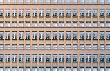 architectural pattern, window facade of an old berlin house