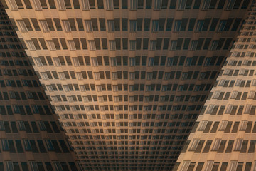 architectural pattern, distorted facade of a miserable house