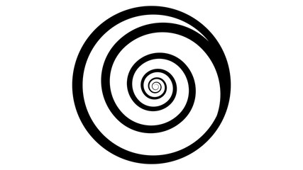 Spiral icon vector design. Spiral logo. Shell icon