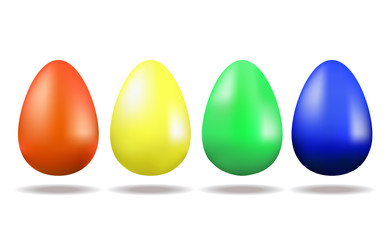 Set of Easter multicoloured eggs. Holiday. Traditions and values. Easter.