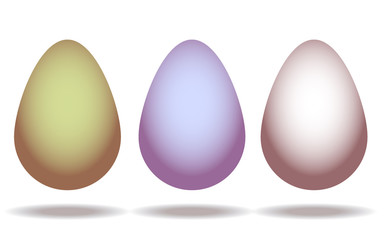 Set of eggs isolated on white background. Vector.