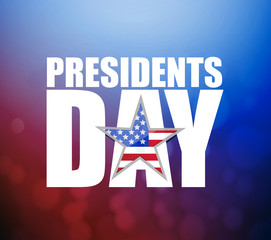Presidents day sign illustration booked background.