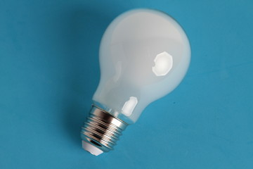 light bulb on colorful background