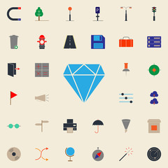 colored diamond icon. Web icons universal set for web and mobile