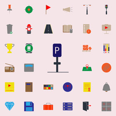 colored parking place icon. Web icons universal set for web and mobile