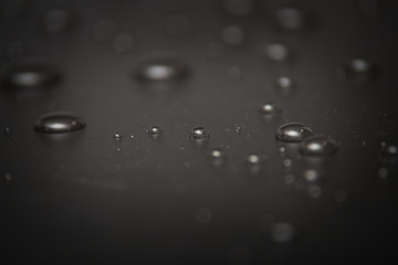 Water drops on the surface