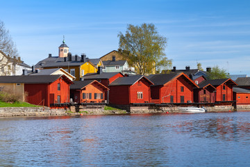 Hstorical part of Porvoo town, Finland