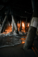 Light under the pier