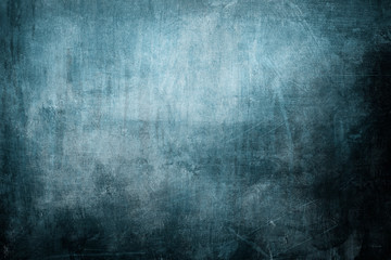 Blue grungy canvas texture or background
