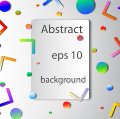 Abstract background with many elements in gradient color