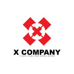 X letter logo design vector template