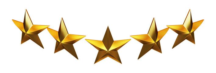 Five golden rating stars