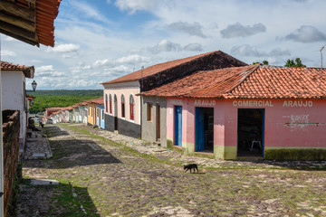 Traditional portuguese colonial architecture in Alcantara, Brazil