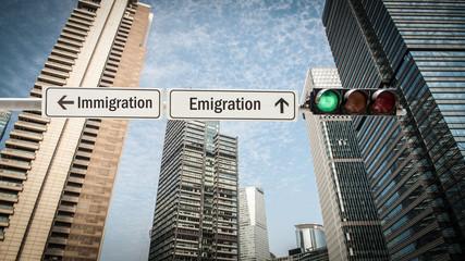 Sign 393 - Emigration