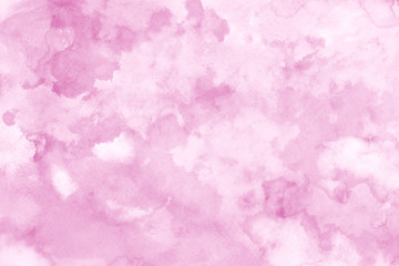 Pink ink and watercolor textures on white paper background. Paint leaks and ombre effects. Hand painted abstract image.