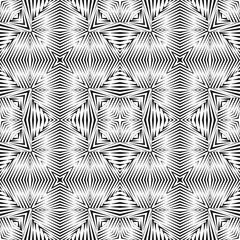 Geometric seamless pattern, abstract halftone lines background, vector modern design ornament, texture.