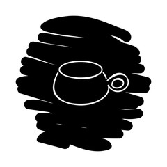 Cup icon vector illustration on black background