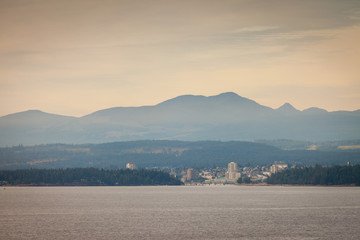 A view of Nanaimo, British Columbia, Canada from the harbour entrance