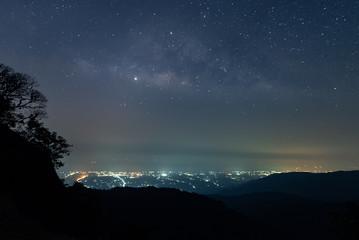 Milky Way view from Namtok Huai Yang National Park, Prachuap Khiri Khan, Thailand