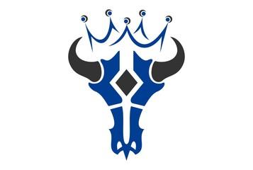 king bull skull logo icon