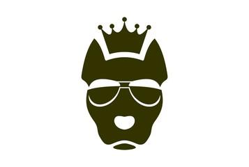 king dog logo icon concept