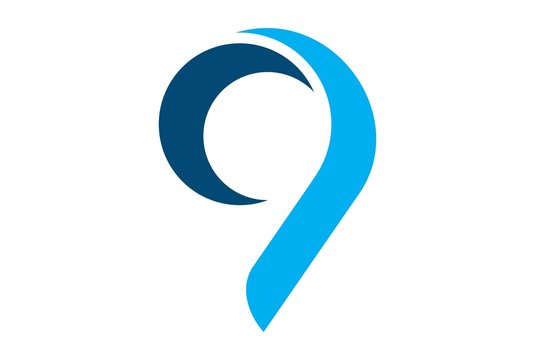 number nine 9 icon logo