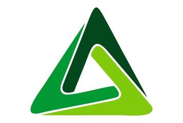 triangle logo concept icon vector