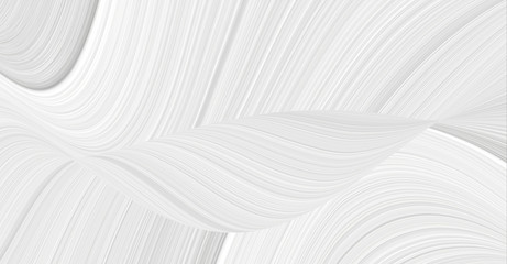 Spoed Fotobehang Abstract wave 3d background with an abstract pattern of waves and lines in a space theme. Texture white and gray for patterns and seamless illustrations.