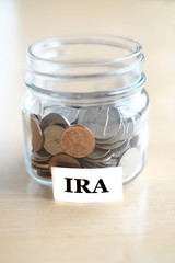 Money Jar for Savings and Investment Retirment IRA 401k College Rainy Day