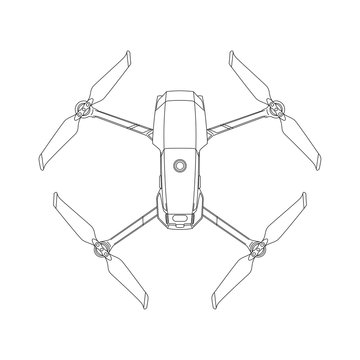 Small drone outlines illustration