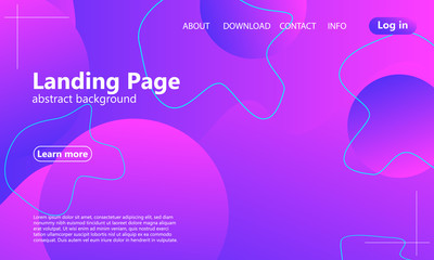 Website landing page. Fluid background.