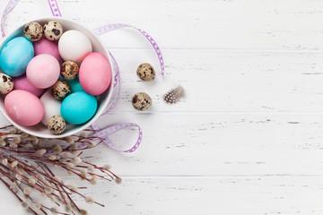 Easter eggs in bowl