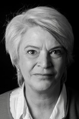 Portrait of a mature woman doing facial expressions
