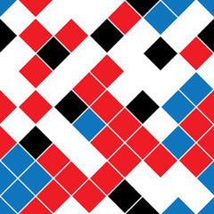 seamless pattern with colored oblique squares