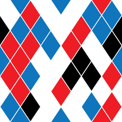 seamless pattern with colored rhombus