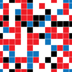 seamless pattern with colored squares