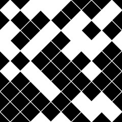 seamless pattern with oblique black squares