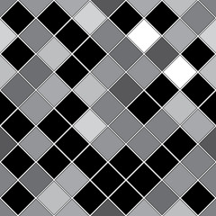 seamless pattern with black and gray oblique squares