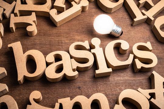 Basics Wood Word
