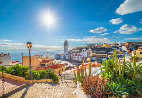 Wall mural Landscape with Candelaria town on Tenerife, Canary Islands, Spain