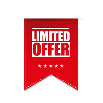 Red banner limited offer vector