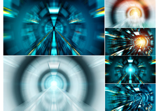 Abstract Zoom Effect Backgrounds