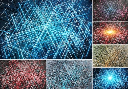 Futuristic Tech Panel Backgrounds