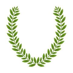 Wreath laurel decoration emblem