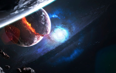 Wall Mural - Supernova star explosion. Black hole. Wormhole. Science fiction art. Elements of this image furnished by NASA
