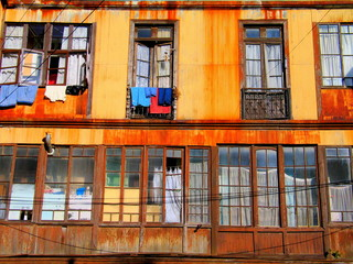 Valparaiso. Colorful city of Chile. South America