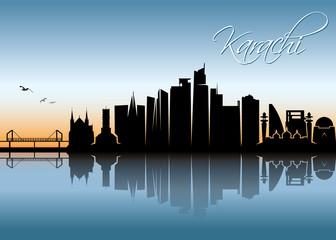 Karachi skyline - Pakistan Fototapete