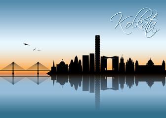 Kolkata skyline - India  Papier Peint